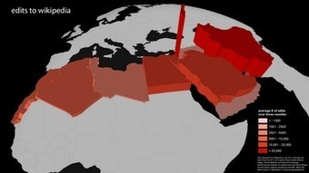 Zero Geography: Mapping Edits to Wikipedia from the Middle East and North Africa | Collaboration Mapping | Scoop.it