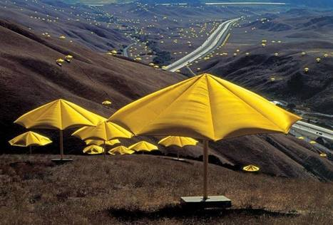 "instalation art - Christo and Jeanne-Claude - ""The Umbrellas"" 