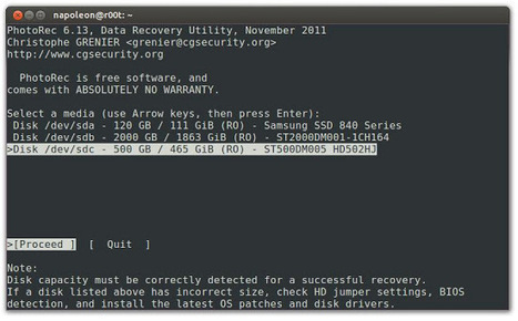 Ubuntu: Récupérer des fichiers supprimés accidentellement avec PhotoRec | Geekologie.me | ubuntu | Scoop.it