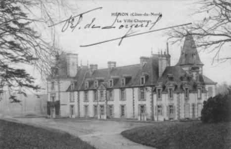 Château de La Ville-Chaperon, Hénon - Histoire et généalogie à Plœuc | Rhit Genealogie | Scoop.it