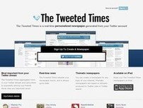 TweetedTimes. Un journal personnalisé depuis Twitter. | Les outils du Web 2.0 | Scoop.it