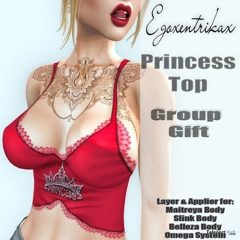 Princess Top Appliers Group Gift by Egoxentrikax | Teleport Hub - Second Life Freebies | Second Life Freebies | Scoop.it