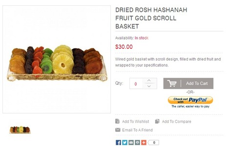 Dried Rosh Hashanah Fruit Gold Scroll Basket | Buy Rosh Hashanah fruits | Scoop.it