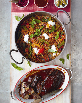 glazed pork fillet, cajun-style pepper rice & bbq sauce | Jamie Oliver | Food | Recipes (UK) | cajun style anything..relevant or yesterday? | Scoop.it