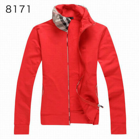Burberry Long Sleeve Fleece Coats Sports Hoody For Girl Red | Burberry Shirts mens and  womens | Scoop.it