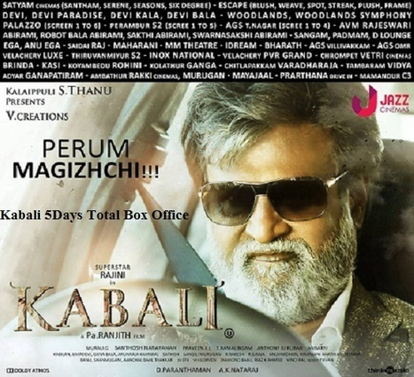 Kabali 5Days Total Box Office | Reviews | Scoop.it