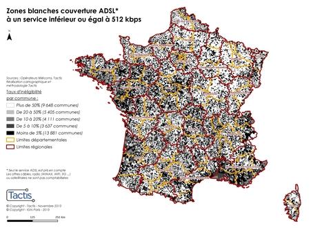 Zones blanches : ces territoires encore éloignés du « vrai » haut débit fixe - Lagazette.fr | Le Monolecte | Scoop.it