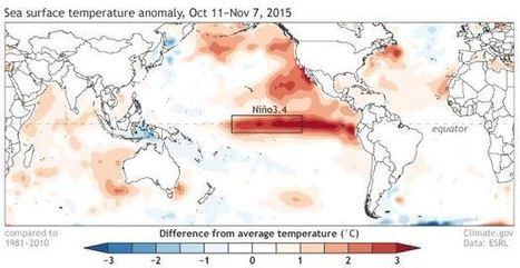 El Niño 2015 op z'n hoogtepunt | Aardrijkskunde van de GGGG | Scoop.it
