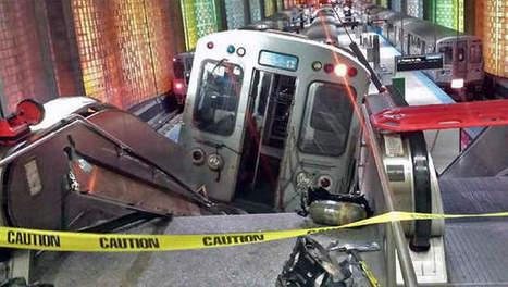 Un train termine sa course dans un escalator à Chicago - 7SUR7.be | conducteur de trains | Scoop.it