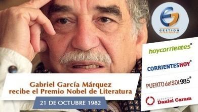 Gabo recibe el Nobel de Literatura - CorrientesHoy.com | Industrias culturales españolas | Scoop.it