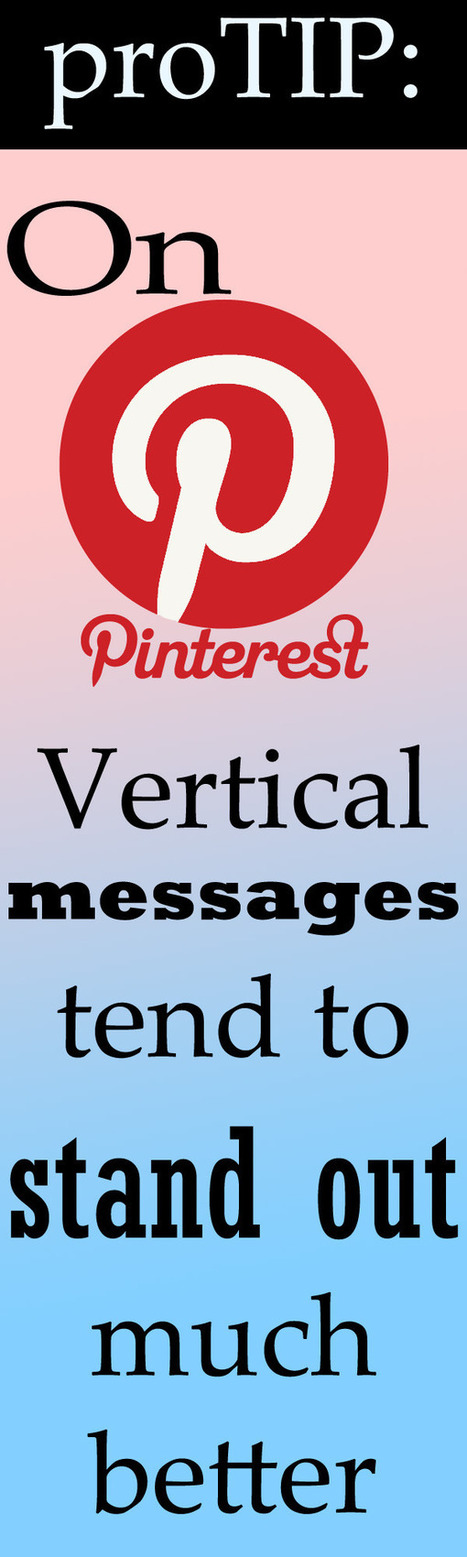 Going Vertical with Pictures for Pinterest's Sake | Pinterest | Scoop.it