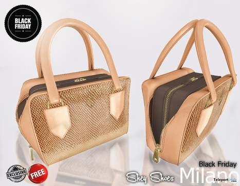 Milano Bag Black Friday Group Gift by SHEY | Teleport Hub - Second Life Freebies | Second Life Freebies | Scoop.it