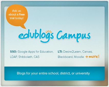Edublogs Campus now integrates with Google Apps, Desire2Learn ...   gappseducation   Scoop.it