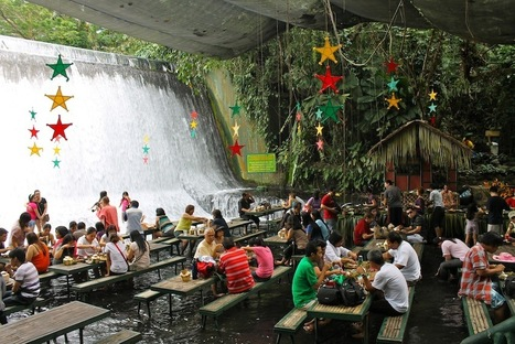 Almost Untouched Nature – Waterfall Restaurant, Philippines | On The Road Again | Scoop.it