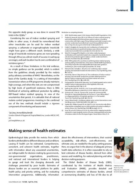 Making sense of health estimates - The Lancet | Health promotion. Social marketing | Scoop.it