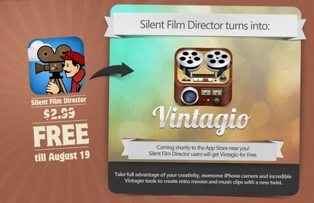 Silent Film Director Goes Free Ahead Of Imminent Update And Relaunch As Vintagio -- AppAdvice | mrpbps iDevices | Scoop.it