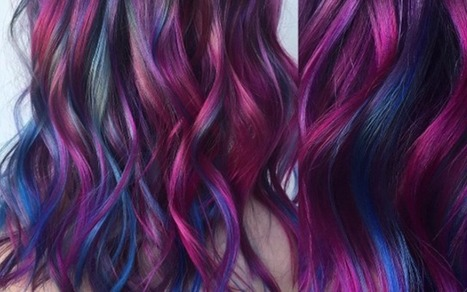Galaxy hair is de nieuwste kapseltrend - FASHION & BEAUTY - Flair | kapsel trends | Scoop.it