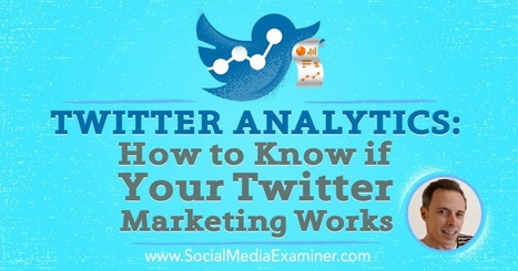 Twitter Analytics: How to Know if Your Twitter Marketing Works : Social Media Examiner | Social Media, SEO, Mobile, Digital Marketing | Scoop.it
