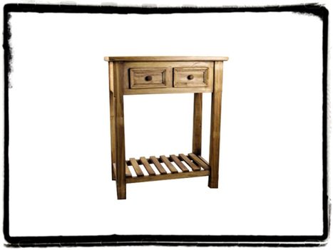 Pine Rustic 2 Drawer Vivere Table   Furniture and Home Decor   Scoop.it
