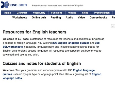 ESL activities - resources for English teachers | ELTbase | English Language Teaching resources | Scoop.it