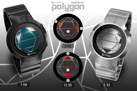 Tokyoflash mixes time and geometry to make its Kisai Polygon watch | All Geeks | Scoop.it