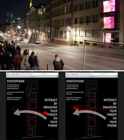 Interactive Urban Light Art Installation Operated by Smart Phones | urbanismo unitário | Scoop.it