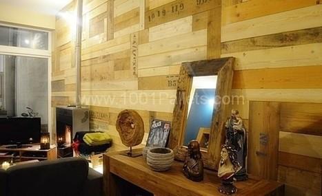 Pallets Wall / Mur en palettes | DIY | Scoop.it