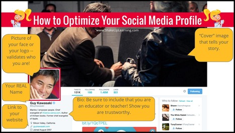How to Optimize Your Social Media Profile | Shake Up Learning | Libraries | Scoop.it