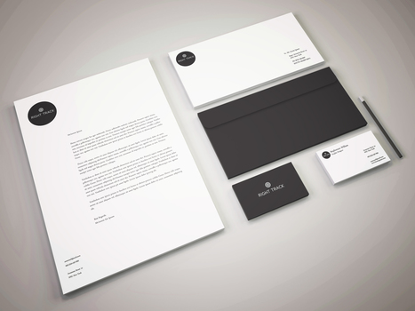 Stunning Stationary Design For Right Track Consulting Firm | Portfolio Designer | Scoop.it