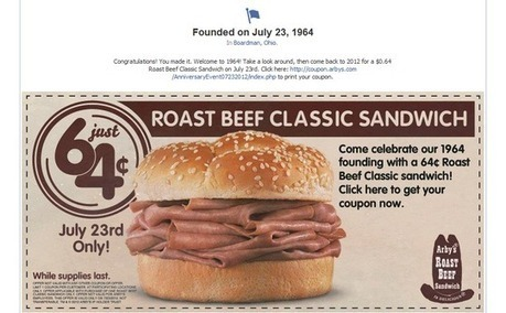 Arby's Goes Way Back for Facebook Promotion | ClickZ | AtDotCom Social media | Scoop.it