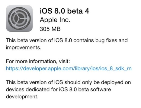 iOS 8 Beta 4 Download Available Now for iPhone / iPad | Latest Tech & iOS Gadgets Updates | Scoop.it