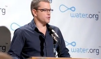 Matt Damon Vows Not to Go to the Bathroom Until the Water Crisis is Solved [Video] | Kauheita konflikteja | Scoop.it