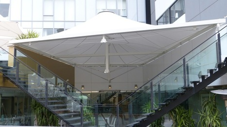 Custom Tension Membrane Shade Structure Melbourne | Olsen Hotel | Melbourne Awning Centre | Scoop.it