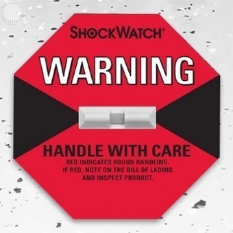 Red Shockwatch + shipping labels included (50box) | Plastic Packaging Products | Scoop.it