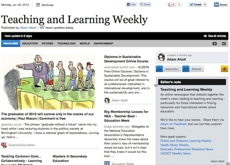 "July 2 - ""Teaching and Learning Weekly"" is out 