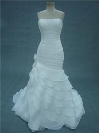 $ 203.99 Gorgeous Mermaid Floor-Length Strapless Chapel Wedding Dress | Fashion ladies | Scoop.it