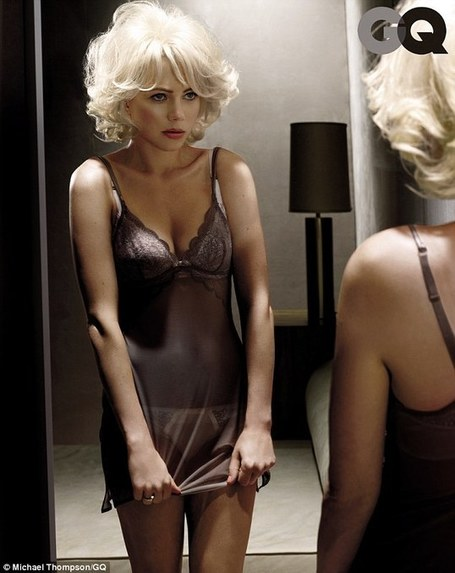 GREAT MOVIE! GREAT SHOOT! Michelle Williams slips into sexy lingerie for Marilyn Monroe-inspired GQ shoot | TonyPotts | Scoop.it