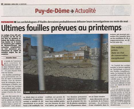 Fouilles archéologiques, future Scène Nationale (Clermont-Ferrand) - Hadès | HADES - Archéologie | Scoop.it