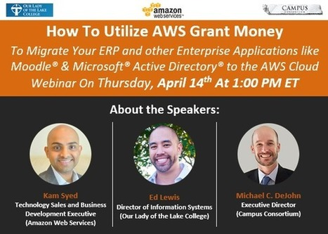 [Webinar] How To Migrate Your Enterprise Applications to AWS | EdTechReview | Scoop.it