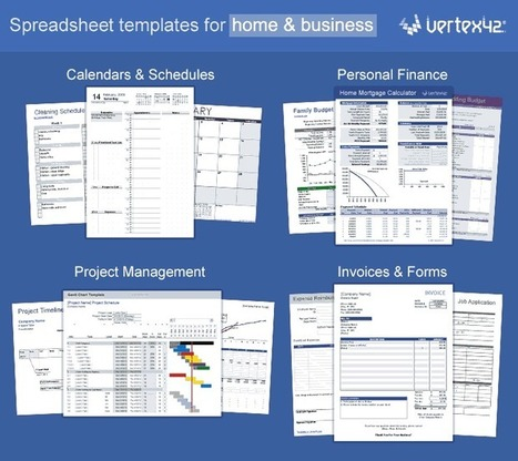 Vertex42 - Excel Templates, Calendars, Calculators and Spreadsheets | technologies | Scoop.it