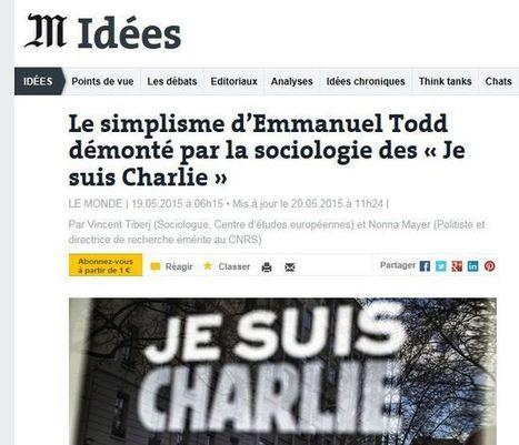 »[Quand les #ChiensDeGarde #VincentTiberj & #NonnaMayer attaquent #Todd]Scoop,il y avait 15 mio de manifestants le 11.1 | Infos en français | Scoop.it