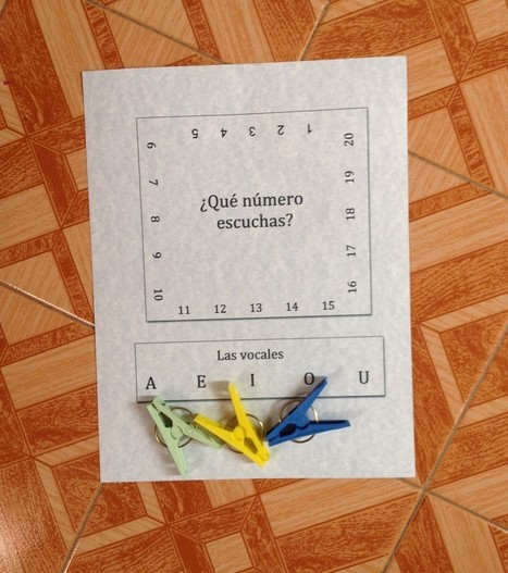Printable Spanish Clothespin Activities for Numbers, Vowels and Math » Spanish Playground   Preschool Spanish   Scoop.it