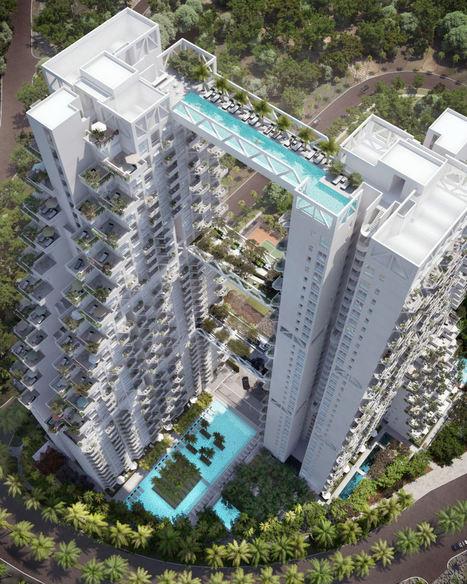 Swimmable Skybridge, Bishan Central Condominium, Singapore | Unique Places | Scoop.it