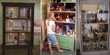 Turn An Old Dresser Into A Doll House | Upcycled Objects | Scoop.it