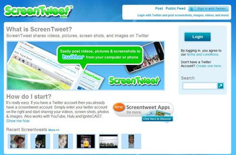 ScreenTweet : een mooie 'Twitter'-tool voor het onderwijs | ICT in de lerarenopleiding | Scoop.it