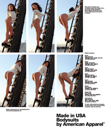American Apparel Back To Porny Ads (NSFW PHOTOS, POLL) | SEX | Scoop.it