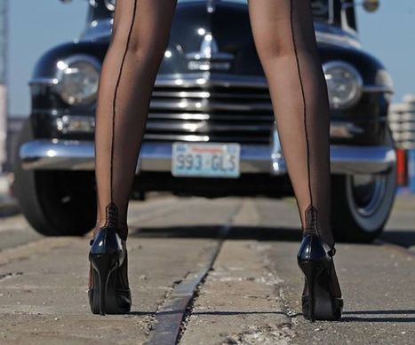 Carlos Kella Creates A Triple Threat: Hot Rods, Pins Up, and Legs | Sexy Legs and Foot Photos | Scoop.it