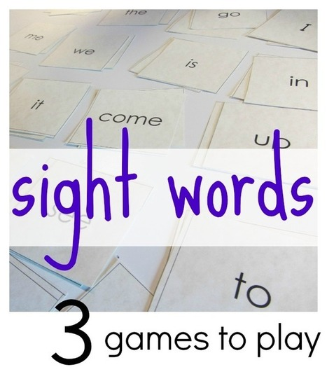 3 all-time best games to play with sight words - teach mama   Sight Words teaching and Learning Games   Scoop.it