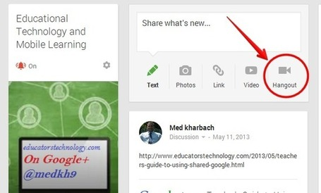 3 Easy Ways to Create A Google Plus Hangout with Your Students ~ Educational Technology and Mobile Learning | Teaching and Learning with Technology | Scoop.it