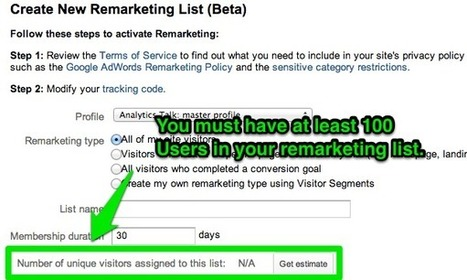 Rocking Google Analytics Remarketing Because It Works | Social Marketing Revolution | Scoop.it